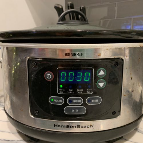 set crock pot for 30 minutes
