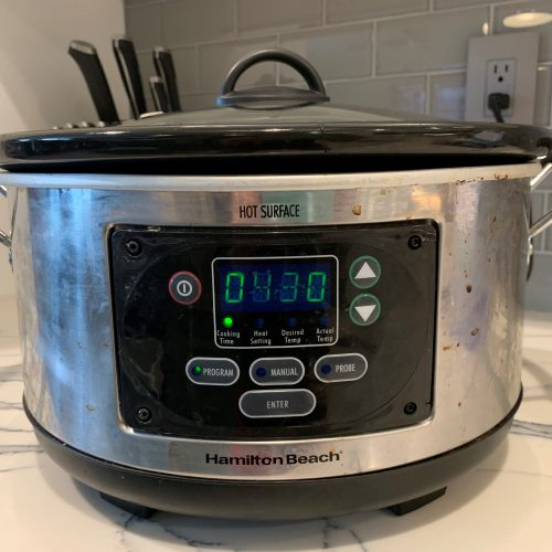 set crock pot for 4 hrs 30 min