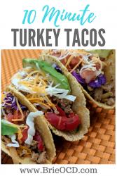 10 minute ground turkey tacos