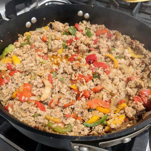 10-minute-turkey-tacos-add-ground-turkey-and-taco-seasoning