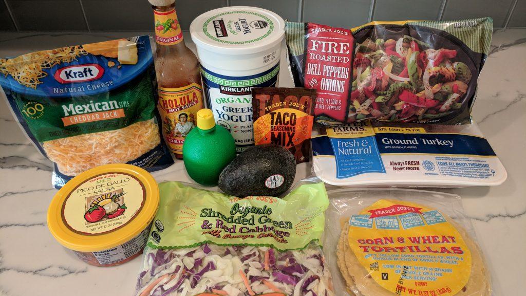 10 minute turkey tacos ingredients