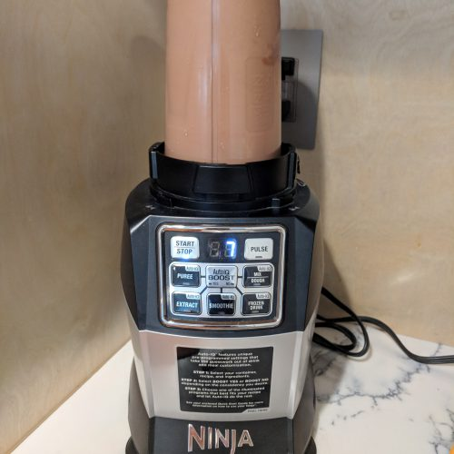 casein protein shake blend for 20 seconds