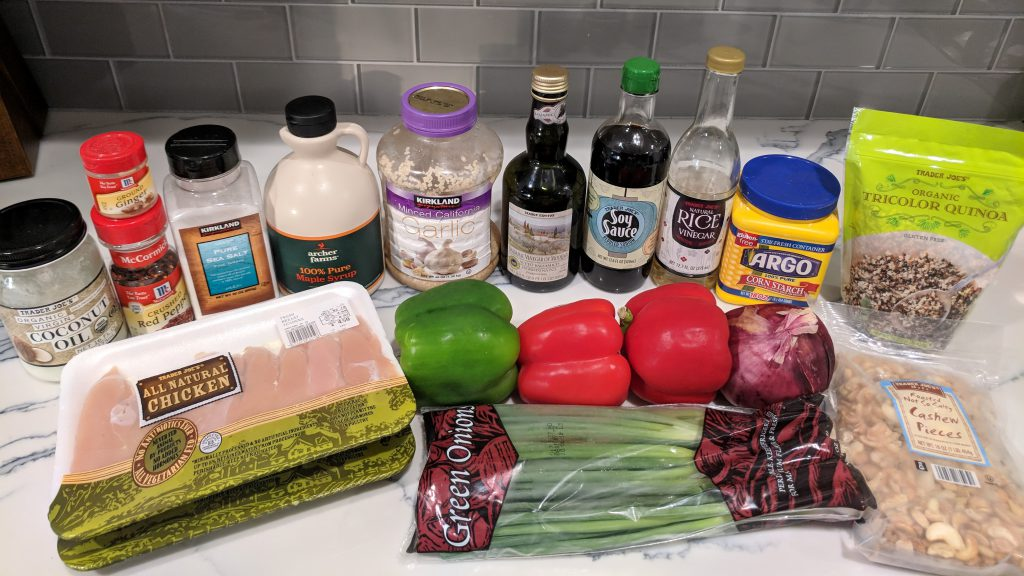 cashew chicken ingredients updated