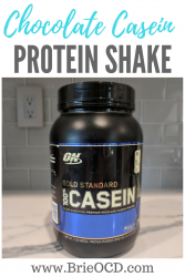 chocolate casein protein shake