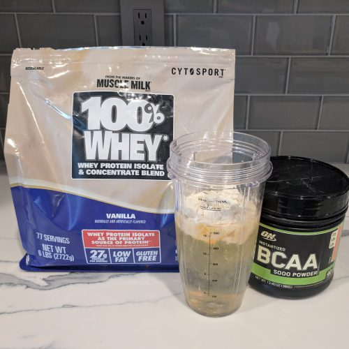 creamsicle protein shake add one scoop whey protein one scoop bcaa