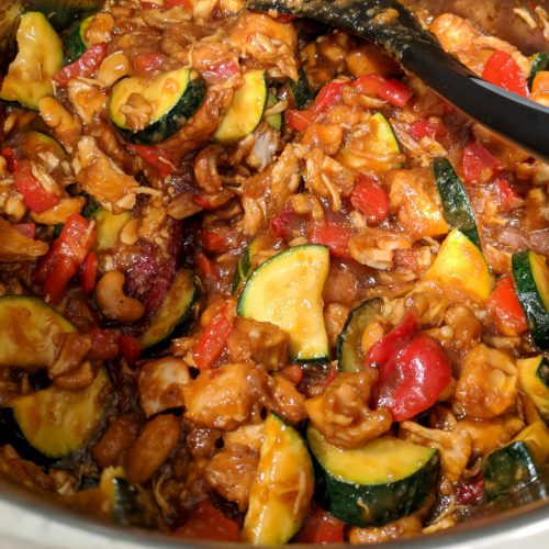 instant-pot-kung-pao-chicken-add-cornstarch-peppers-zucchini