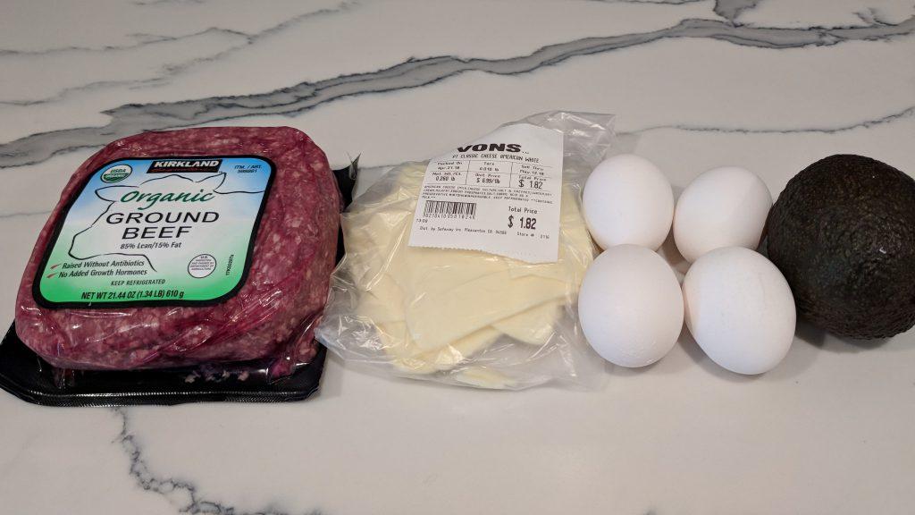 avocado egg burger ingredients