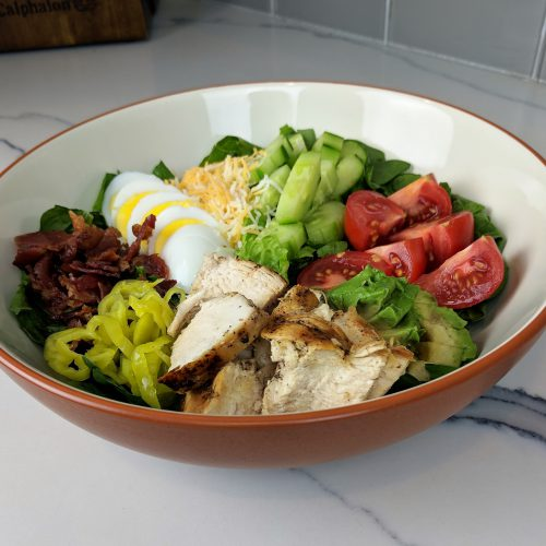 cobb salad final close up