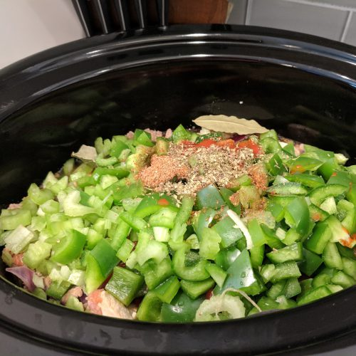 jambalaya add remaining ingredients to crockpot