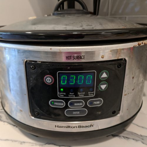 jambalaya set crockpot to low for 3 hrs