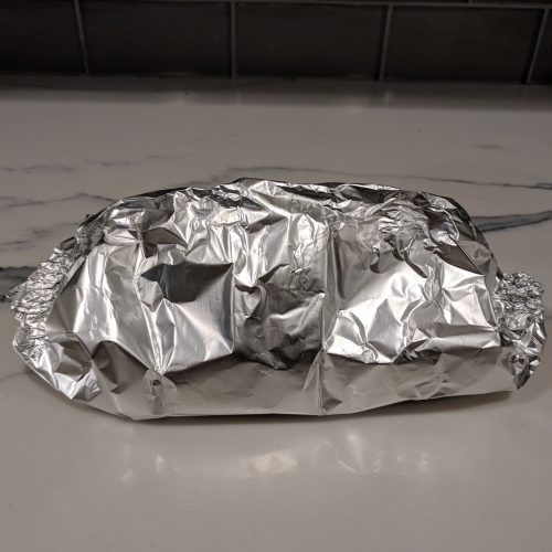 make a tent with the foil