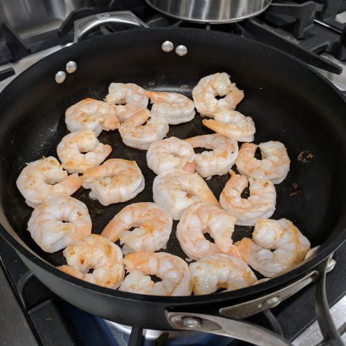 stir fry saute shrimp