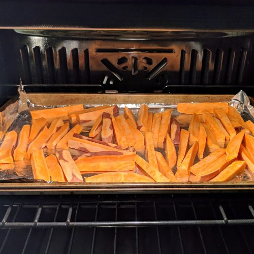 sweet potato fries bake at 425