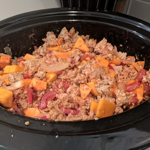 sweet spicy beanless crock pot chili add meat mixture to crockpot