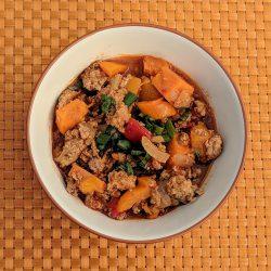 sweet spicy beanless crock pot chili final