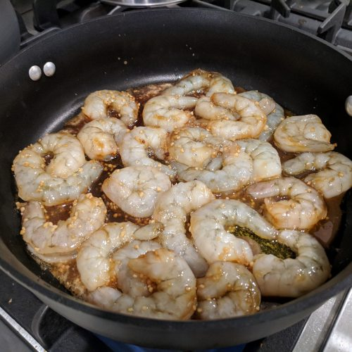 add shrimp to skillet and saute for 2 minutes