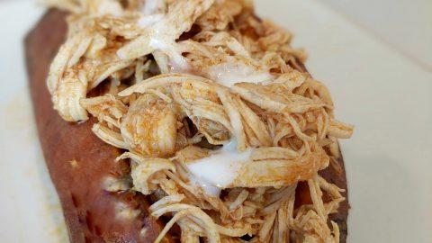 Instant Pot: Buffalo Chicken Stuffed Sweet Potatoes