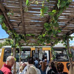 bus stop in anacapri