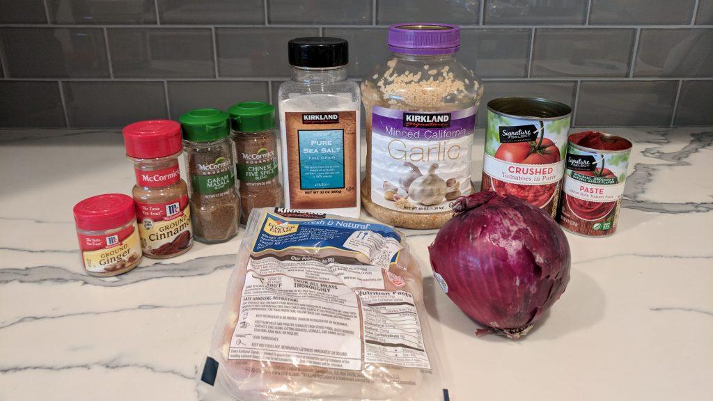 chicken tikka ingredients