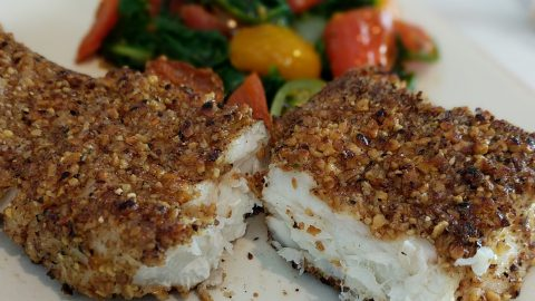 Nut Crusted Halibut