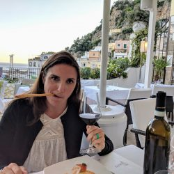 fancy dinner at next2 positano