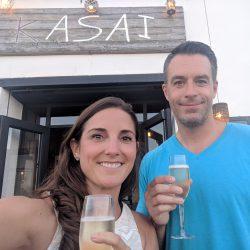 free prosecco at kasai