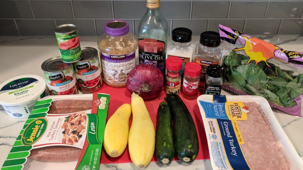 low carb lasagna ingredients
