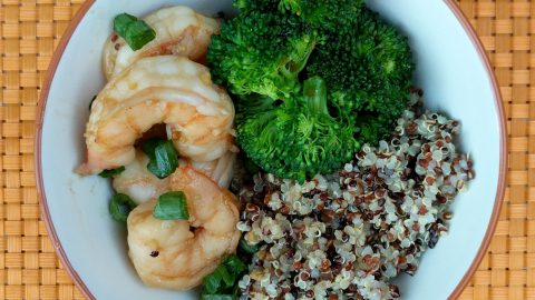 Honey Garlic Shrimp with Broccoli & Quinoa