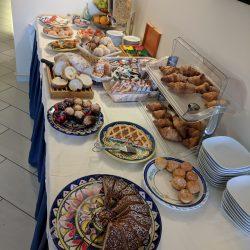 hotel il pino breakfast spread