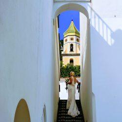 laura in villa stairwell