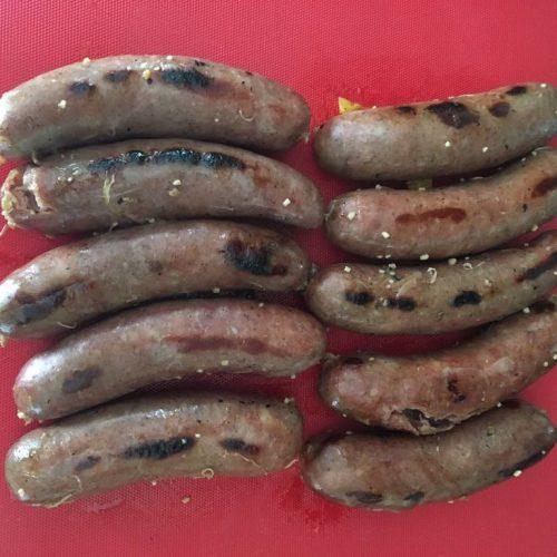 let sausage rest for 10 minutes