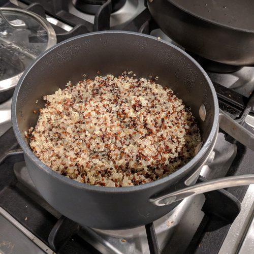 make quinoa according to pkg instructions