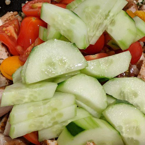 mediterranean salad chop veggies
