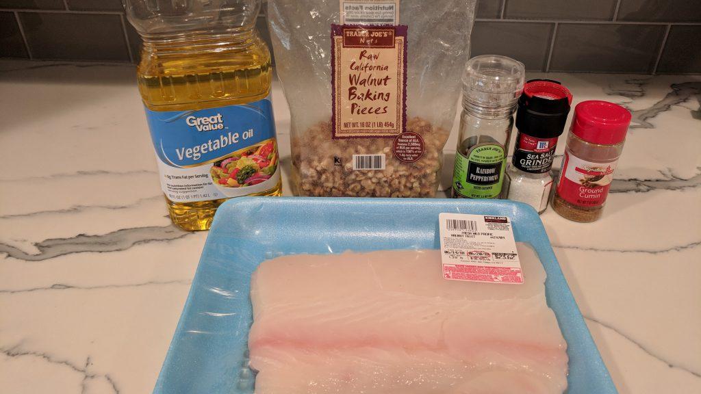 nut crusted halibut ingredients