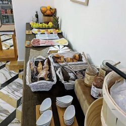partial breakfast spread at villa helios
