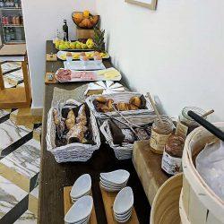 partial breakfast spread at villa helios