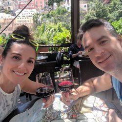pizza and wine at la zagara