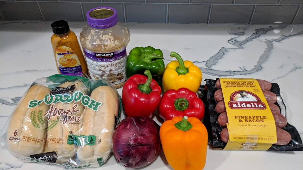 sausage peppers onions ingredients