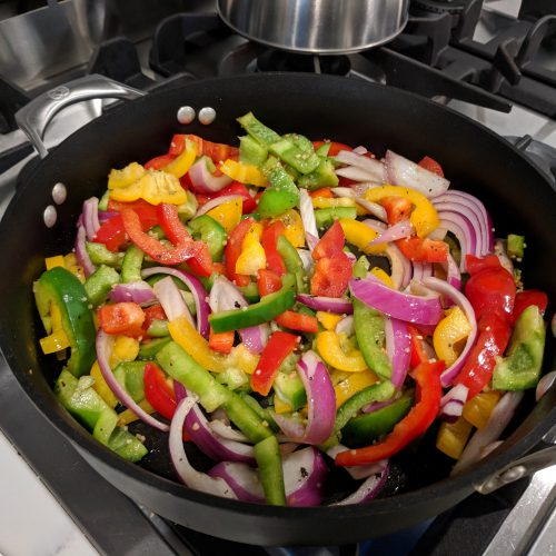 sausage peppers onions saute peppers onions