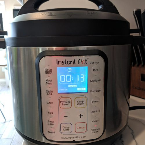 set the instant pot for 13 minutes