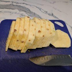 slice into half inch slices