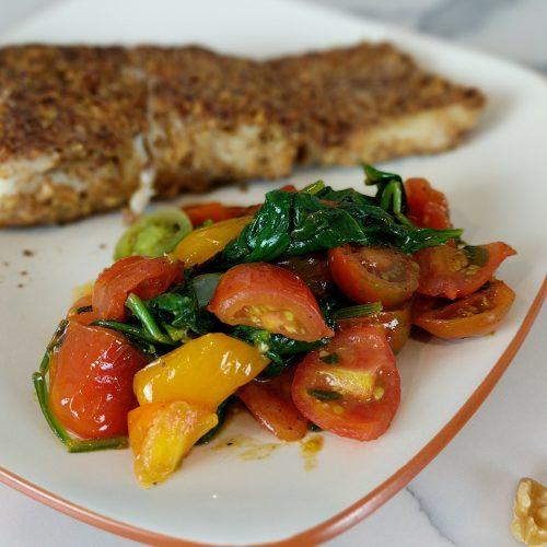 spinach and tomato saute final