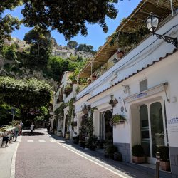 the cute streets of positano