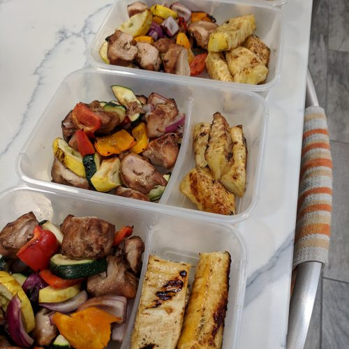 chicken skewer pineapple meal prep pic