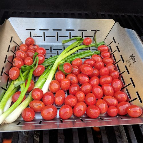 grill tomatoes scallions