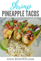 shrimp and pineapple tacos