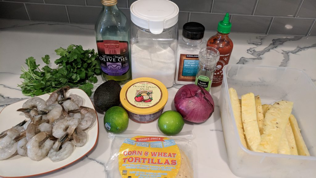 shrimp and pineapple tacos ingredients