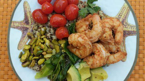 Shrimp and Quinoa Cobb Salad