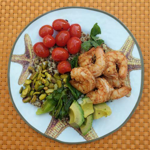 shrimp cobb salad final top view