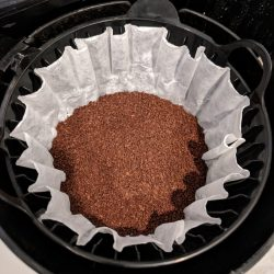 step 5 add ground coffee to filter
